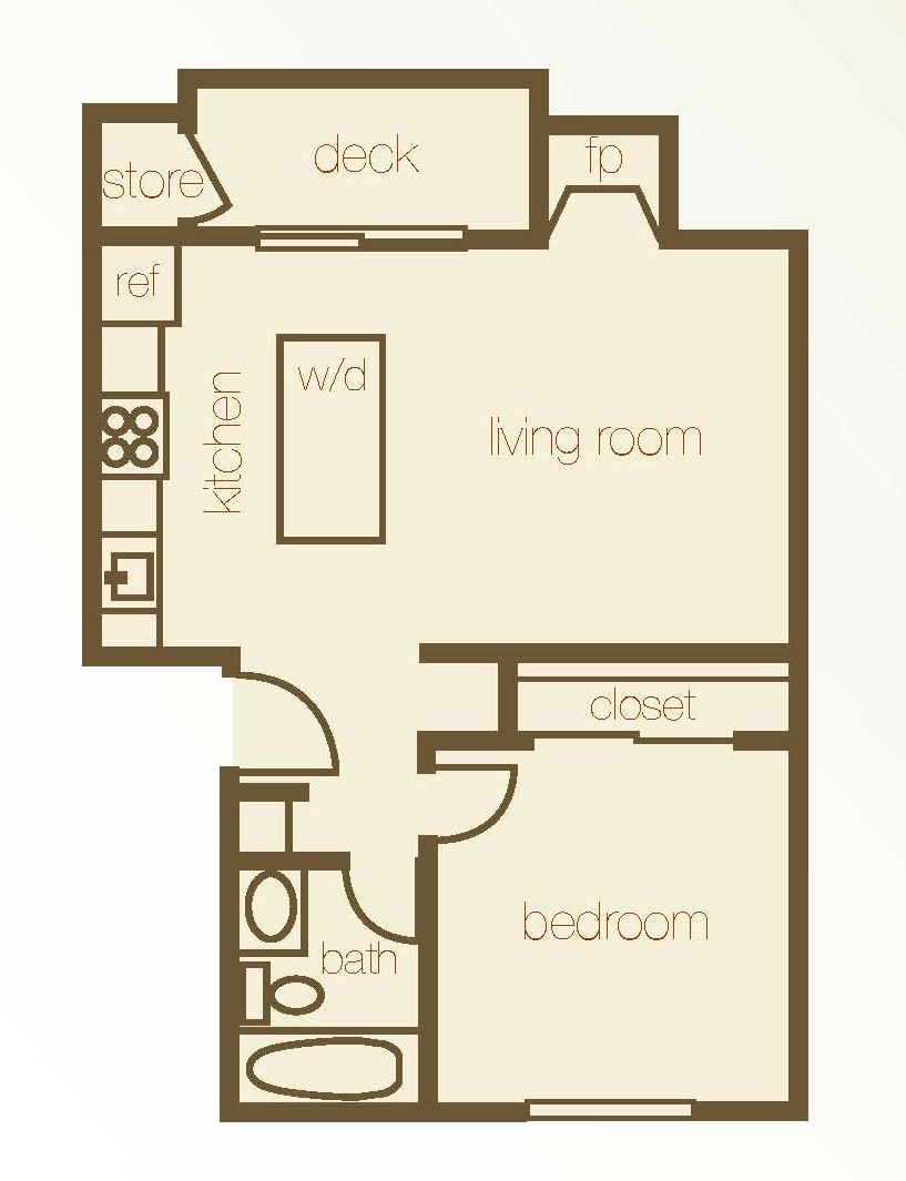 Floor Plan 1 Bdr